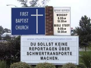 Klassisches amerikanisches church sign