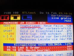 RTL Teletext spricht von Vogelrippe