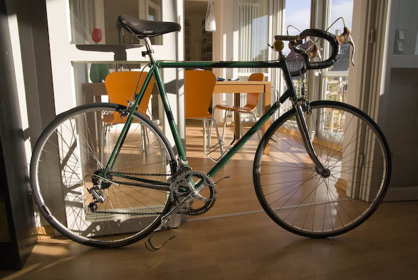 Altes Stahlrennrad